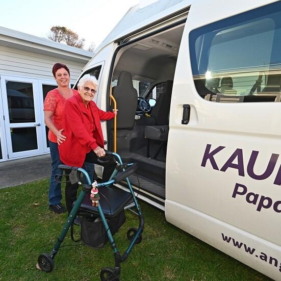 ACW160-Woman Assited Van-Outdoors